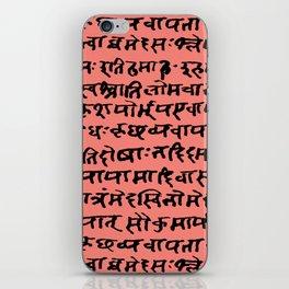 Sanskrit // Coral iPhone Skin