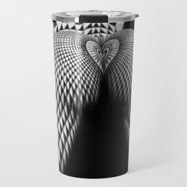 0364-JAL Nude Geometric Erotica Black & White Naked Woman Behind Below Bum Butt Ass Travel Mug