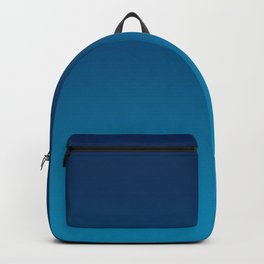 Ombre Blue Hawaii Ocean Gradient Duotone Backpack