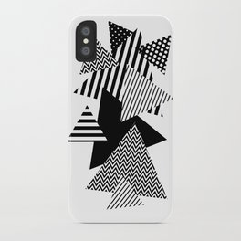 Geometric - Triangles, B&W Party iPhone Case