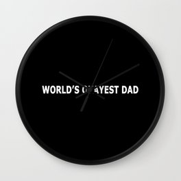 WORLD'S OKAYEST DAD Wall Clock