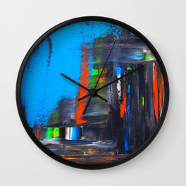 Rushed Cityscape Wall Clock