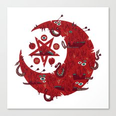 The Blood Moon Compels You to Fuck Shit Up Canvas Print