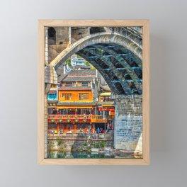 Fenghuang Bridge - Ancient China City Framed Mini Art Print