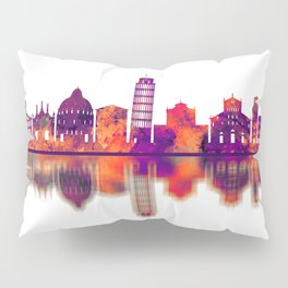 Pisa Italy Skyline Pillow Sham