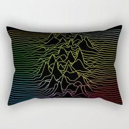 rainbow illustration - sound wave graphic Rectangular Pillow