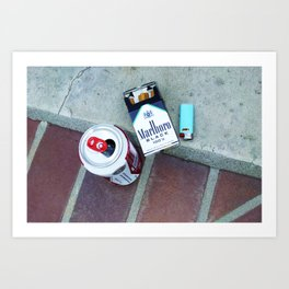Beer and Cigarettes Art Print