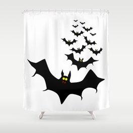 Vampire Bats Shower Curtain