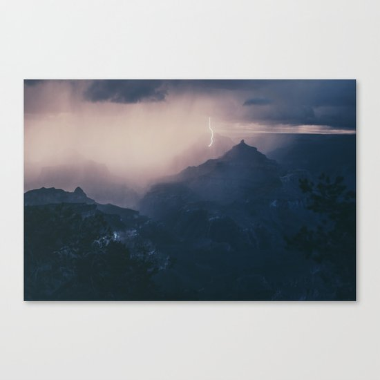 Lightning Crashing Canvas Print