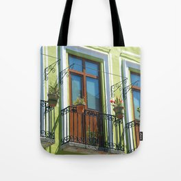 Balconies of Puebla  Tote Bag