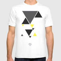 The Triangle Experiment MEDIUM Mens Fitted Tee White