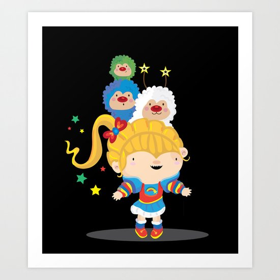 Rainbow bright Art Print