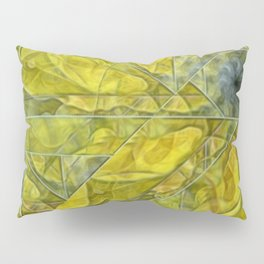 Abstract Yellow-Gold Sundrops Pillow Sham
