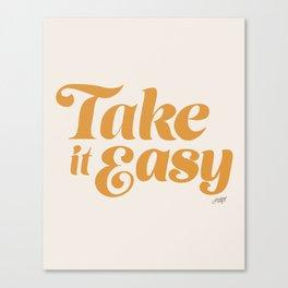 Take it Easy (Yellow Palette) Canvas Print
