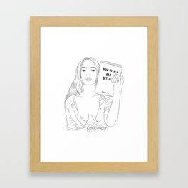 The Guidebook Framed Art Print