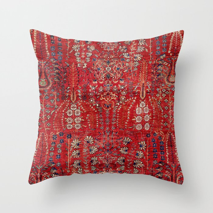 Sultanabad Arak West Persian Rug Print Throw Pillow