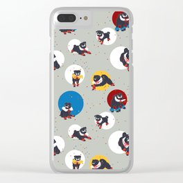 Pug Party Clear iPhone Case