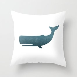 Whale art Throw Pillow