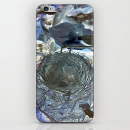 Fallen Birds Nest In Negative iPhone Skin