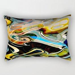 Blue curlz Rectangular Pillow
