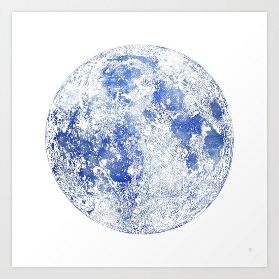 Moon Map Art Print