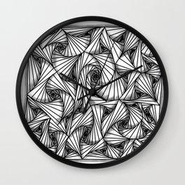 three-sided figures Wall Clock