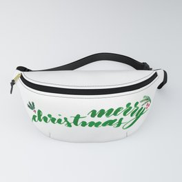 Merry Christmas - green Fanny Pack