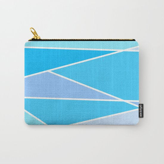 Broken Hues - Blues Carry-All Pouch