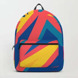 Geometric zig zag abstract lines in vivid colours Backpack