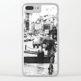 In a hurry Clear iPhone Case