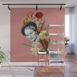 September Flowers - Collage Wall Mural