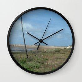 Near beach of Phare de la Coubre at te Atlantic Ocean Wall Clock