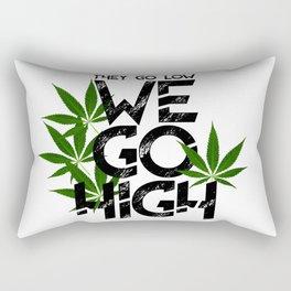 We Go High Rectangular Pillow