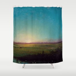 Twilight in the Florida Everglades by Martin Johnson Heade Shower Curtain