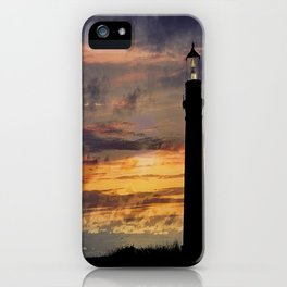 Newport Oregon - Setting Sun iPhone Case