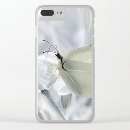 Butterfly White 80 Clear iPhone Case