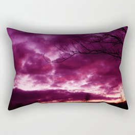 Moody Purple Sky Rectangular Pillow