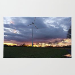 Sun Setting Over the Windmill Rug