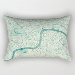 London Map Blue Vintage Rectangular Pillow