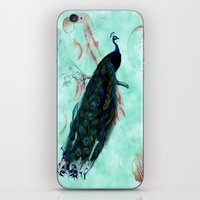 peacock iPhone & iPod Skins featuring Peacock by SuzanneCarter