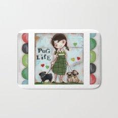 Pug Life - by Diane Duda Bath Mat