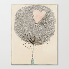 how love grows Canvas Print
