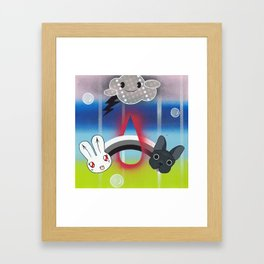 B-Bunny & Chango Framed Art Print