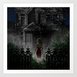 """Old house, """"Red Dress"""" Collection  Art Print"""