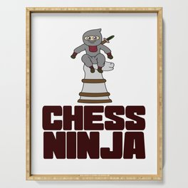Birthday Ninja Party Samurai Ninjas Gift Japanese Ninja Chess ninja Serving Tray