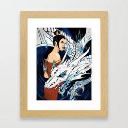 Blue Fire Framed Art Print