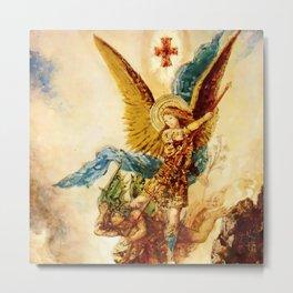 "Gustave Moreau ""Saint Michael"" Metal Print"