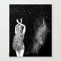 apollonia Canvas Prints featuring asc 604 - L'invocation à Vénus (Venus under the sky) by From Apollonia with Love