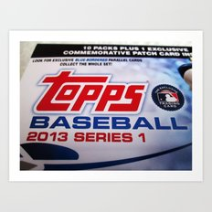 Topps Series 1 Baseball Art Print