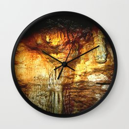Reflections inside a Dolomite Cave Wall Clock